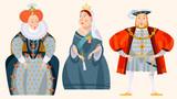 History of England. Queen Elizabeth I, King Henry VIII, Queen Victoria. - 186567102