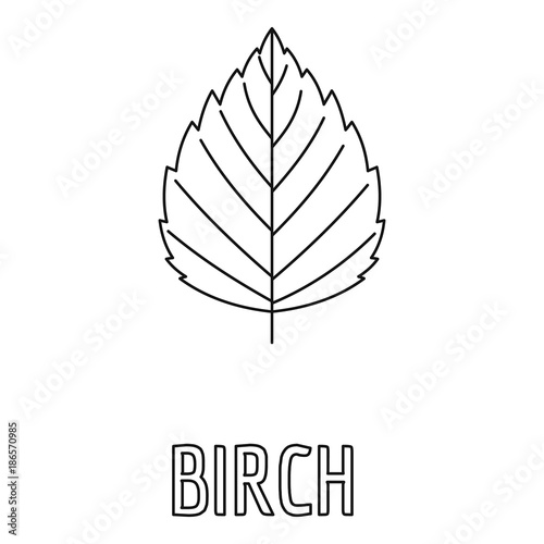Birch leaf icon. Outline illustration of birch leaf vector icon for web - 186570985