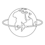 Worldwide icon. Outline illustration of worldwide vector icon for web - 186572964