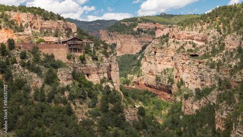 Fotobehang Zalm Rocky Mountain Canyon