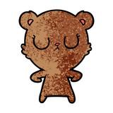 peaceful cartoon bear cub - 186591740