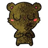 peaceful cartoon bear cub - 186597170