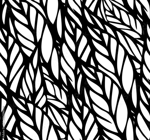 Seamless  pattern with  leaves  - 186598939