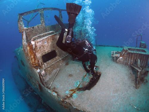 Foto op Plexiglas Schipbreuk Scuba Diving Malta Gozo Comino - - P31 Wreck, Comino