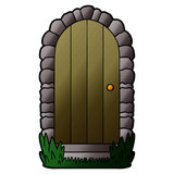 cartoon doorway - 186602107