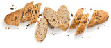 Grain bread with seeds.Above view. - 186612789