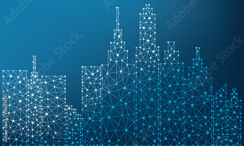 City Polygon Illustration design - 186614191