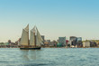 Tall ship in the harbour with Halifax downtown skyline on a sunny day