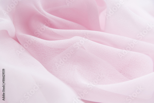 Foto Murales Texture chiffon fabric pink color for backgrounds