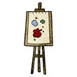 cartoon painting easel - 186629795