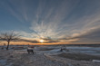 Sunset at a Very Cold Beach on Lake Michigan 276