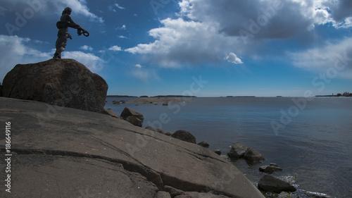 Statue à Kotka, vallée de la Kymi, Finlande - 186649116