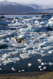 Jokulsarlon glacier lagoon and icebergs in the south of Iceland poster