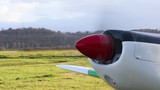 Selective focus video of a small private plane - 186658131