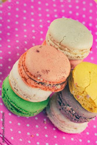 Foto op Plexiglas Macarons French Macarons