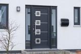 Moderne Haustür in anthrazit  - 186671588