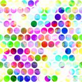 Seamless Watercolour Polka Dots Textile - 186672545