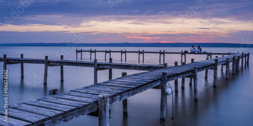 Foto op Canvas Natuur Summer Sunset Impression on Lake Neusiedl (Burgenland, Austria)