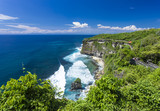 The Hindu temple Pura Luhur Uluwatu situated over the cliffs of South Kuta, Bali, Indonesia - 186675378