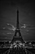 Bland & White of the Eiffel tower