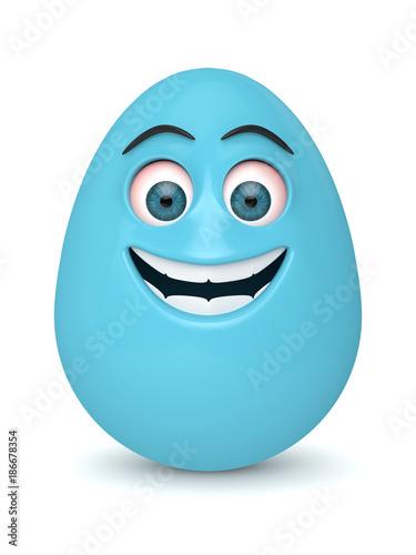 3d render of Easter cartoon egg - 186678354