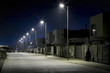 empty night street in residential area - 186679741
