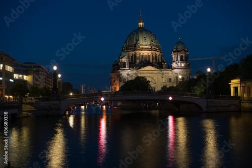Aluminium Berlijn Berlin Cathedral , Berliner Dom at night, Berlin ,Germany