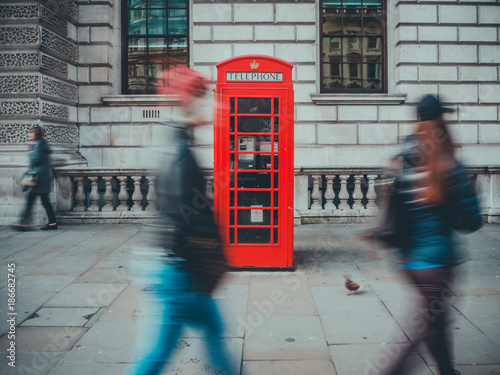 Poster Londen Menschen in London