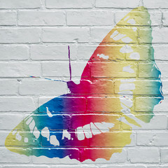 Graffiti, papillon