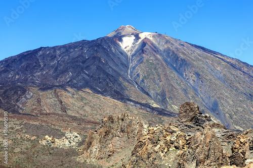 Deurstickers Canarische Eilanden Pico de Teide, Tenerife, Canary Islands, Spain is a volcano in El Teide National Park and is a World Heritage Site