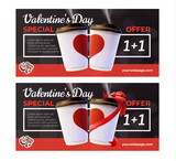 Coffee to Go Valentine's Day Flyers Concept
