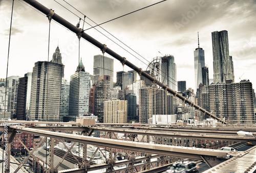 Fotobehang Brooklyn Bridge Manhattan.