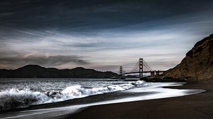 Golden Gate Bridge at Dusk from Baker Beach