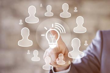 Business button idea in network internet.