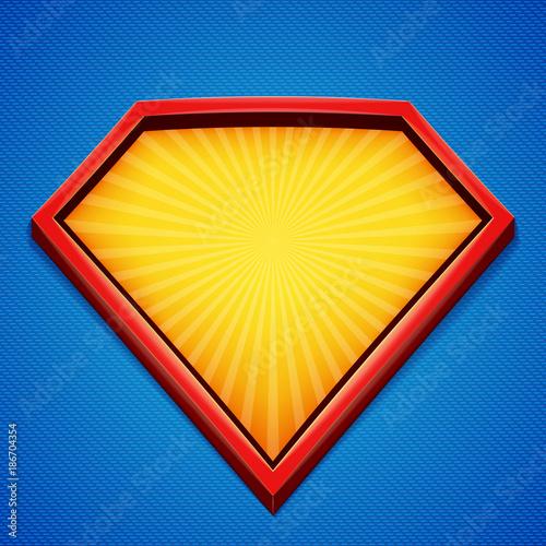 superhero background superhero logo template red yellow frame