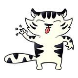 cartoon white tiger