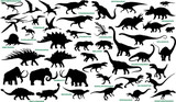 Prehistoric Animals  Silhouettes 