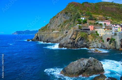 Staande foto Grijs Cinque Terre, Italy