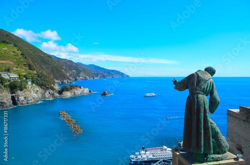 Foto op Aluminium Blauw Cinque Terre, Italy