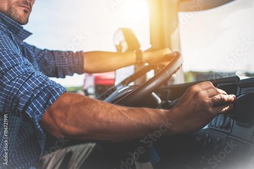 Foto Murales Semi Truck Driver Job