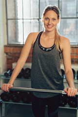 Fit healthy happy young woman