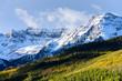 Beautiful and Colorful Colorado Rocky Mountain Autumn Scenery - Dallas Peak in the San Juan Mountain Range