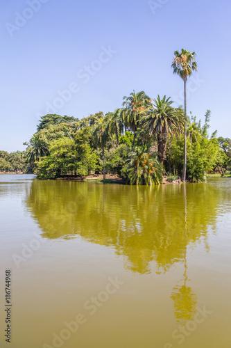 Fotobehang Palermo Lake in Bosques de Palermo park