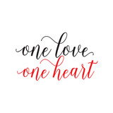 One Love One Heart Lettering