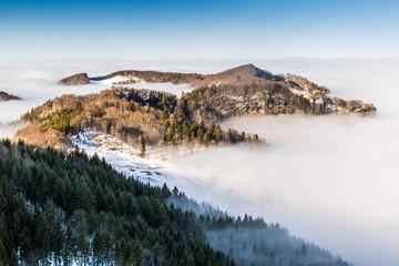 Blick von der Belchenflu(e), in der Schweiz
