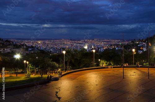 Keuken foto achterwand Zwart A great city at night