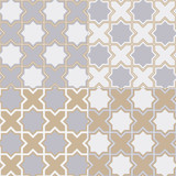 A simple geometric pattern in the oriental style. Four variants of a seamless pattern in fashionable colors: Harbor Mist, Warm Sand and Coconut Milk