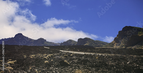 Poster Aubergine Teide mountain in Tenerife. Canary Islands
