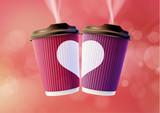 Coffee to Go Valentine's Day Concept