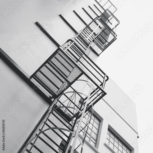 Steel Stairs Ladder Modern building Exterior Architecture detail